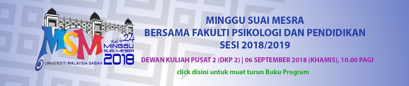 MINGGU SUAI MESRA BERSAMA FAKULTI PSIKOLOGI DAN PENDIDIKAN SESI 2018/2019