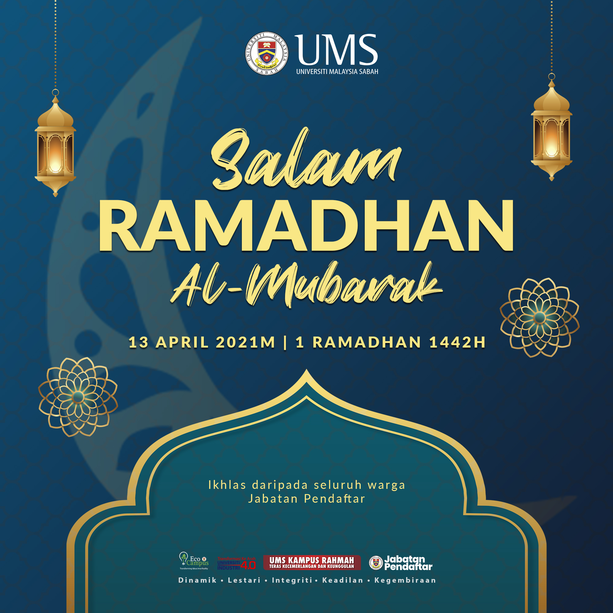 Salam Ramadhan Al-Mubarak 1442H