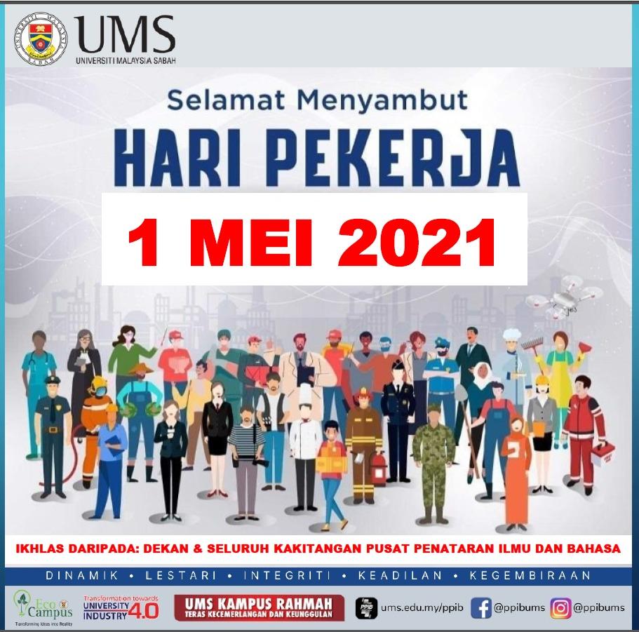 SELAMAT MENYAMBUT HARI BURUH 2021