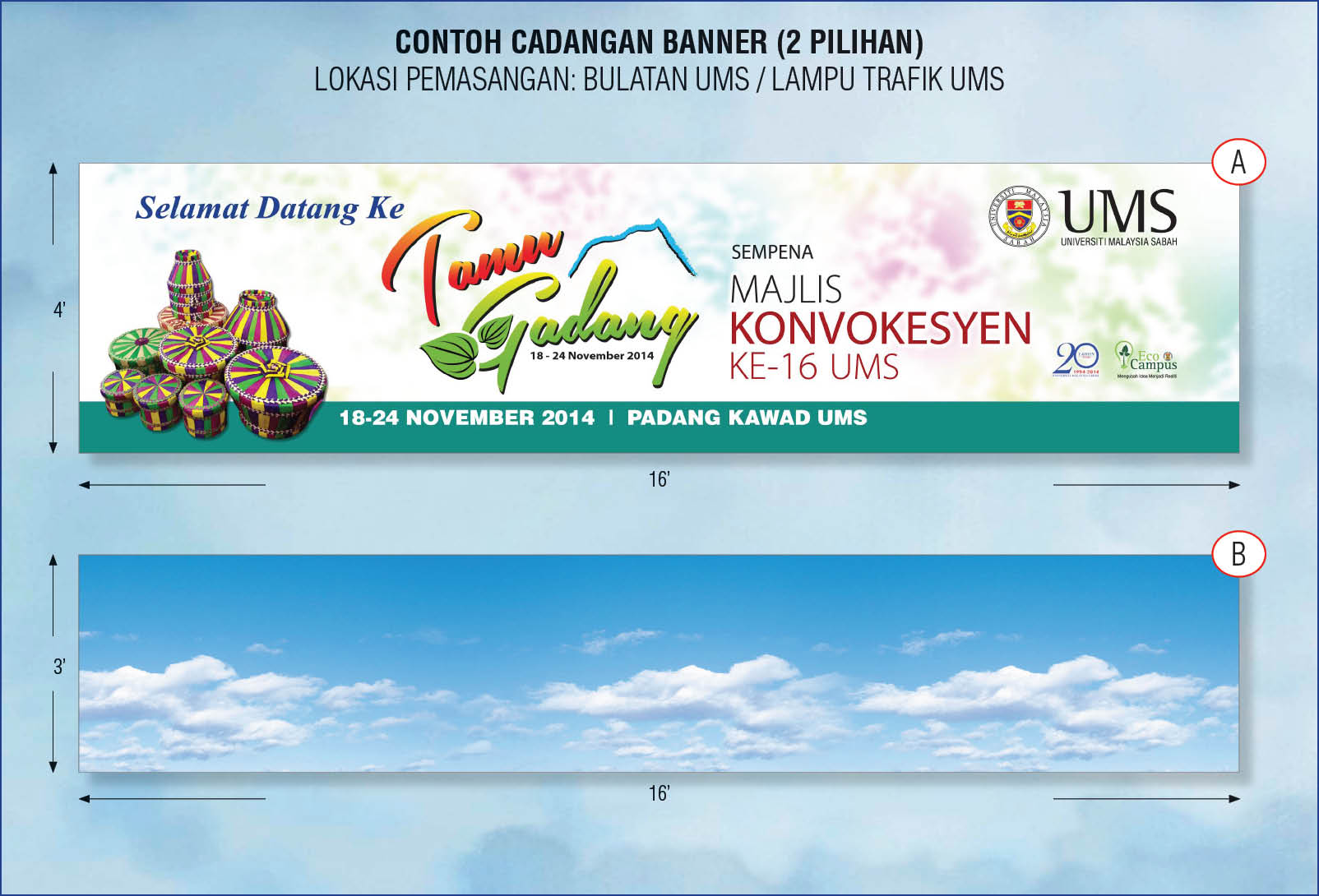 Banner Bunting Format