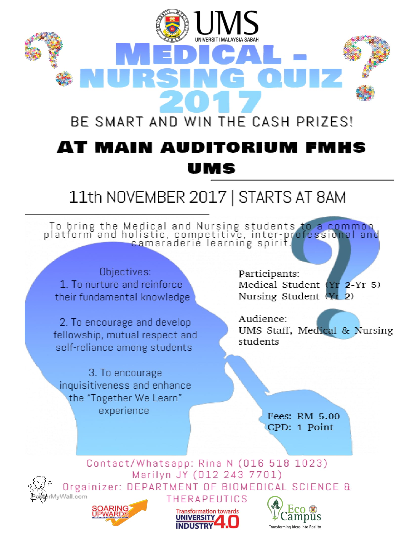 UMS - MEDICAL - NURSING QUIZ 2017