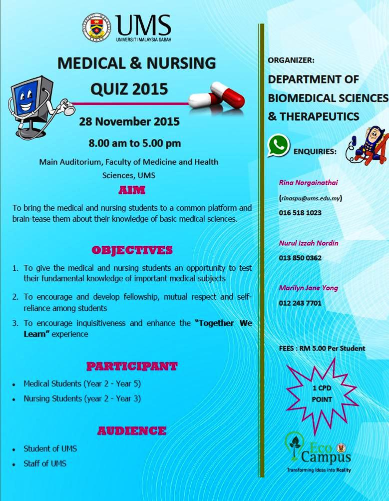 UMS - MEDICAL AND NURSING QUIZ 2015